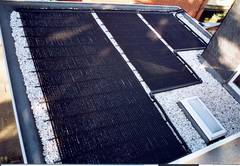 3 different size solar collectors