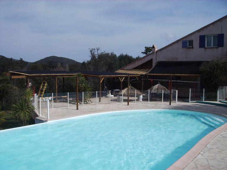 camping platz pool auf korsika solar beheizt mit solar rapid. Black Bedroom Furniture Sets. Home Design Ideas