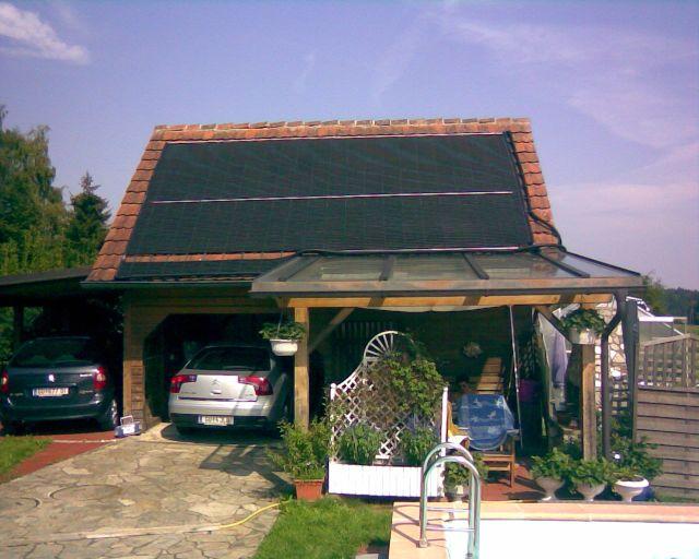 Chauffe piscine solar rapid en autriche for Piscine sur toit garage